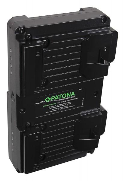 PATONA Premium Hot Swap V-Mount Adapter for 2x V-Mount batteries incl. charging function D-Tap
