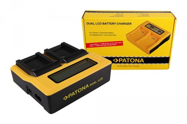 PATONA Dual LCD USB Ladegerät f. Minolta NP-900 CS 6531N CS 6531-N CS5530 CS-5530 Minolta