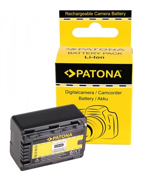 PATONA Akku f. Panasonic VW-VBK180 VBK180-K VBK180 + RESTLAUFANZEIGE