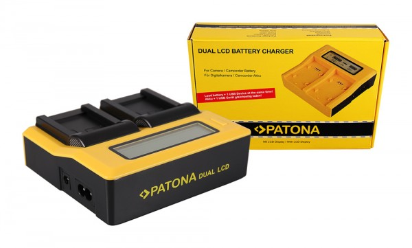 PATONA Dual LCD USB Charger for Canon NB7L NB-7L