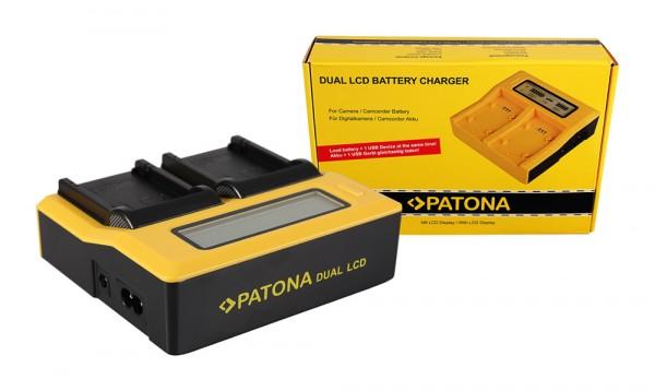 PATONA Dual LCD USB Ladegerät f. Canon LPE8 LP-E8