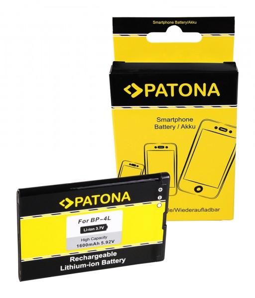 PATONA Akku f. Nokia BP-4L BP-4C 6650 E6-00 E52 E61i E63 E71 E72 E90