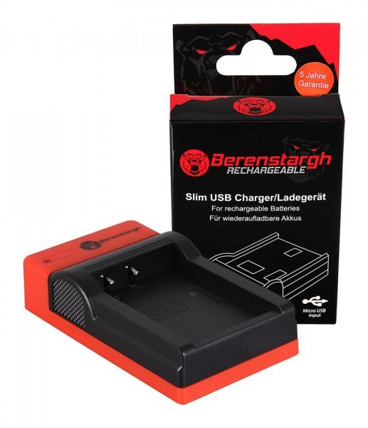 Berenstargh Slim Micro-USB Ladegerät f. Canon LP-E17 EOS 750D 760D 8000D Kiss X8i Rebel Rebel T6i Re