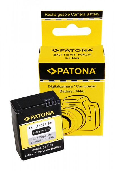 PATONA Akku f. GoPro HD Hero 3 AHDBT-201 AHDBT-301 AHDBT201 AHDBT301