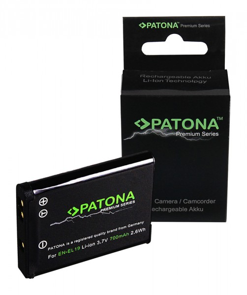 PATONA Premium Akku f. Nikon EN-EL19 CoolPix S32 S6400 S3100 S2600