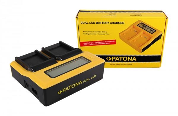 PATONA Dual LCD USB Ladegerät f. Samsung SLB-07A TL TL100 TL210 TL220 TL225 TL90 SLB-07A PL150