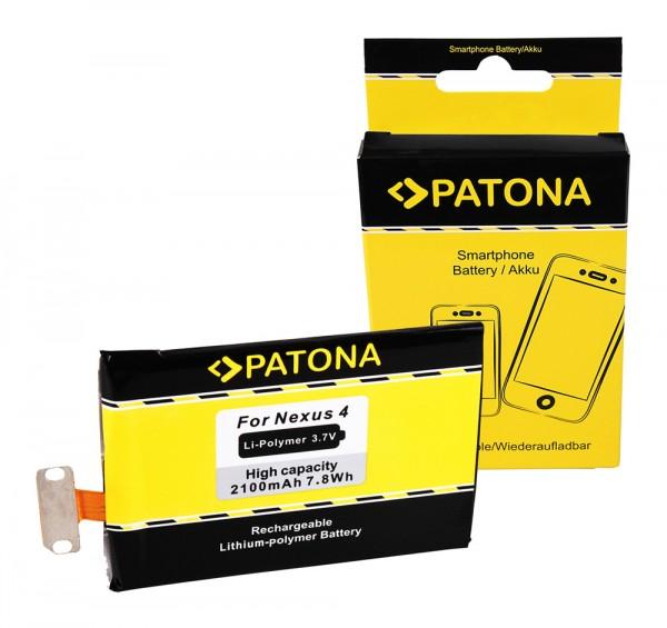 PATONA Battery f. LG Google Nexus 4 EAC61898601LLL incl. screwdriver