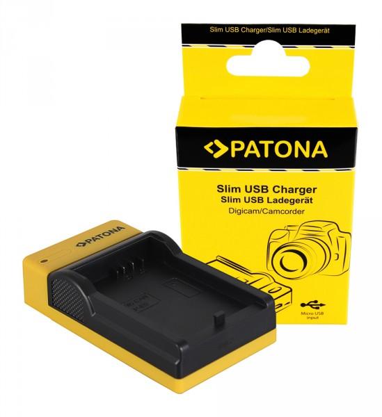 PATONA Slim Micro-USB Ladegerät f. Canon LP-E5, EOS 1000D, 450D, 500D
