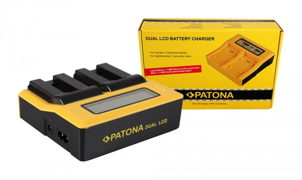 PATONA Dual LCD USB Ladegerät f. Canon NB-9L Digital IXUS 1000 1000HS 1100HS 500 HS 510HS NB-9L