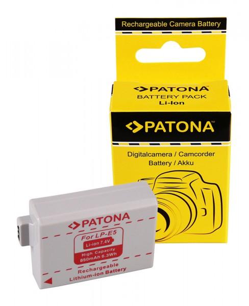 PATONA Batterie pour Canon LP-E5 EOS 1000D 450D 500D