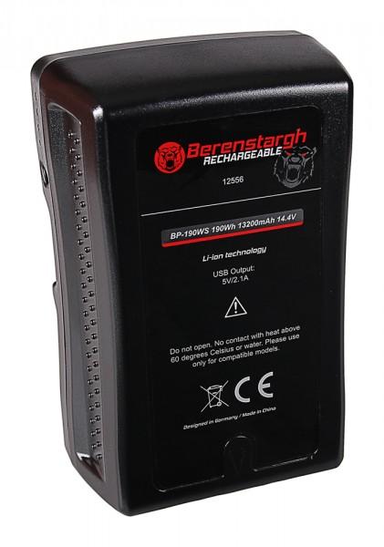 Berenstargh Battery V-Mount 190Wh f. Sony BP-190WS DSR 250P 600P 650P 652P