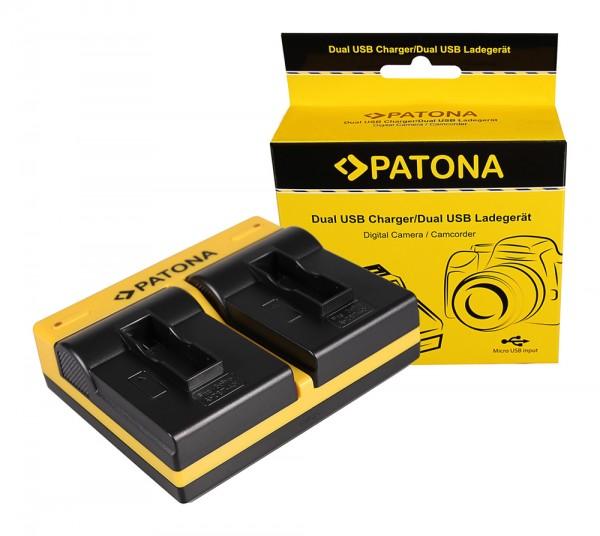 PATONA Dual Ladegerät f. GoPro AHDBT-401 Hero4 Black Edition AHDBT-401 Hero5 Black inkl. Micro-USB K
