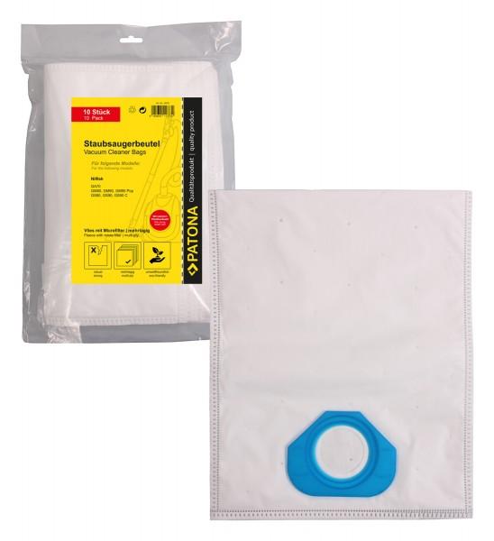 PATONA 10 vacuum cleaner bag multi layer fleece incl. Microfilter f. NILFISK GA70
