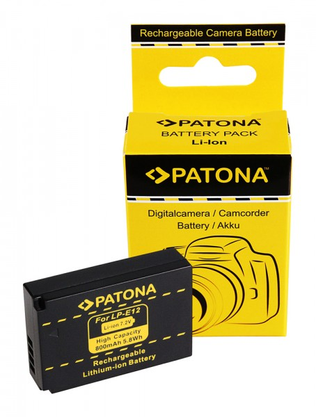 PATONA battery for Canon LPE12 LPE-12 Canon EOS M