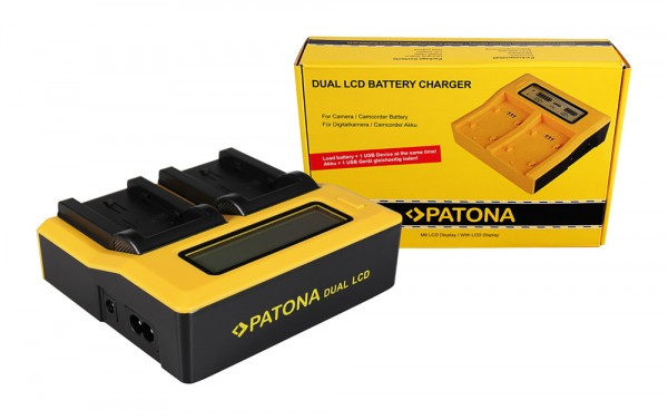PATONA Dual LCD USB Ladegerät f. JVC BNVF808 BN-VF808 BNVF808U BN-VF808U
