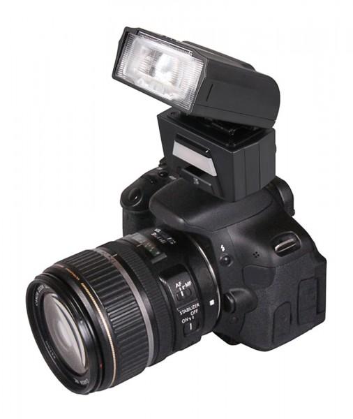 PATONA Digitaler TTL-Motorzoom-Blitz FK40 mit integrierter Videoleuchte f. Nikon