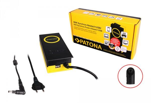 PATONA 90W Synchron Netzteil 4,7x1,7x10mm 19,5V inkl. USB Ausgang 2,1A