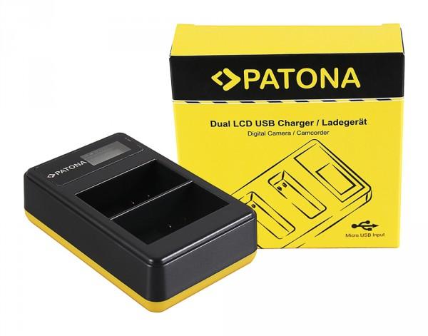 PATONA Dual LCD USB Charger f. Nikon EN-EL15 D600 D610 D7000 D7100 D800 D8000 D800E D810