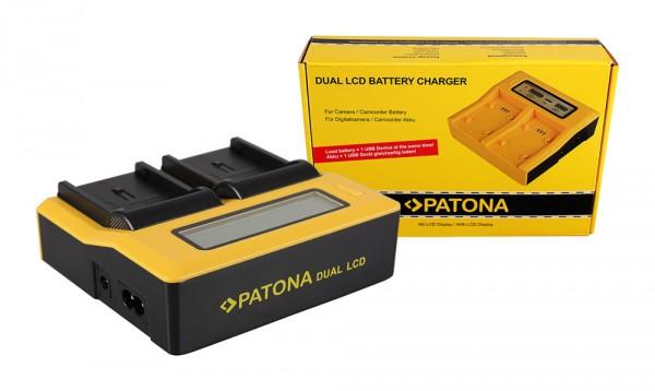 PATONA Dual LCD USB Ladegerät f. JVC BNV408 BN-V408