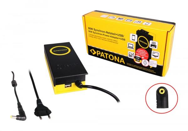 PATONA 90W Synchron Netzteil 5,5x2,5x12mm 19V inkl. USB Ausgang 2,1A