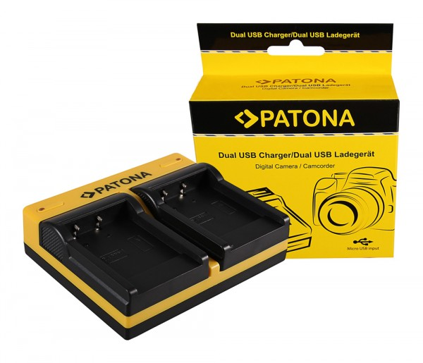 PATONA Dual Ladegerät f. Acer Medion DC-8300 DS-8330 CP8530 CP-8530 CP8531 CP-8531 inkl. Micro-USB K