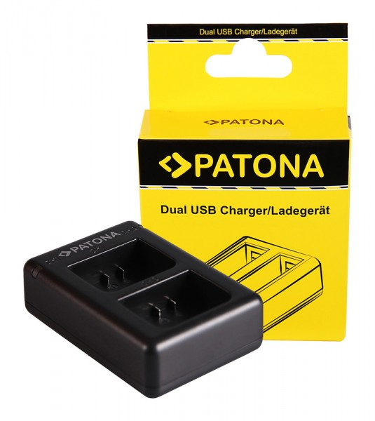 PATONA chargeur double pour Garmin VIRB XE GMICP902624 Virb X XEavec câble Micro-USB