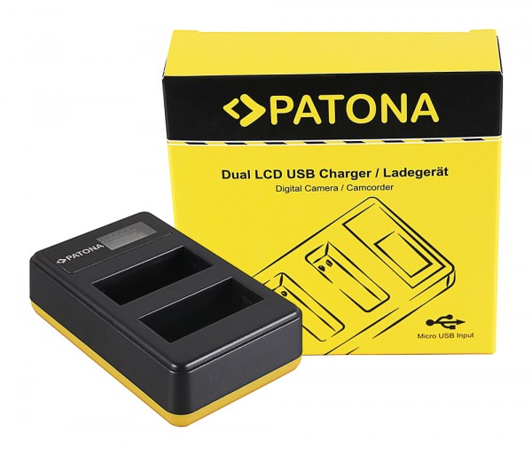 PATONA Dual LCD USB Charger f. Canon LP-E8 550D 600D 650D 700D