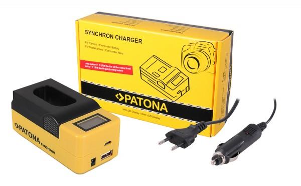 PATONA Synchron USB Charger f. Panasonic DMW-BLJ31 Lumix DC-S1 DC-S1R DC-S1H with LCD