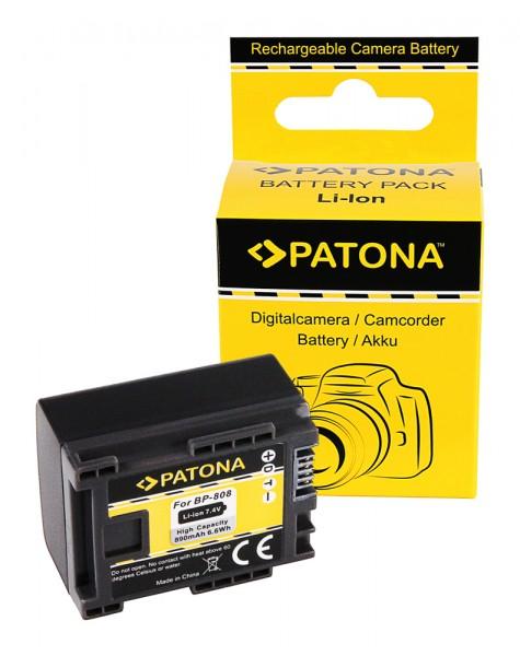 PATONA Akku f. Canon BP819 BP827 BP808 BP809 HF100 HG-20 wireless