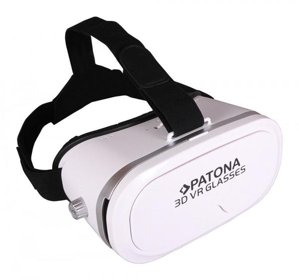"""PATONA 3D-Virtual Reality Brille für Ihr Smartphone 3,5"""" bis 5,5"""" weiß white"""