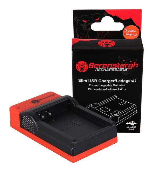 Berenstargh Slim micro-USB Charger f. Olympus BLN-1 OMD EM1 E-M1 EM5 E-M5 EM5 Mark II E-m5 Mark II Stylus EP5 E-P5 XZ2 XZ-2