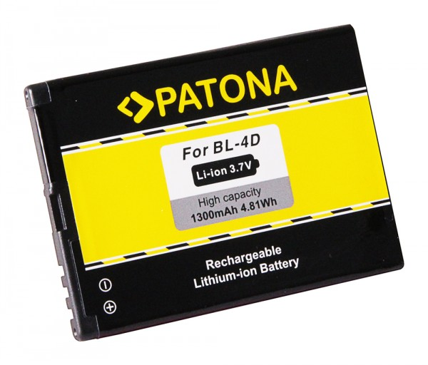 PATONA Akku f. Nokia E5, E5-00, E7, E7-00, N8, N8-00, N97 mini, 808 Pure View BL-4D, BL4D