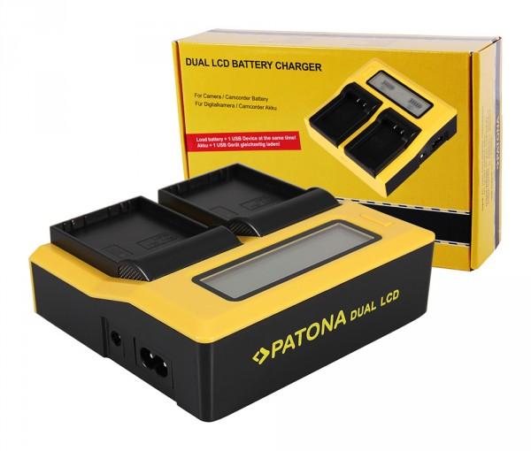 PATONA Dual LCD USB Chargeur pour Olympus Olympus BLH-1 OM-D EM-1 Mark 2 EM-1 Mark II