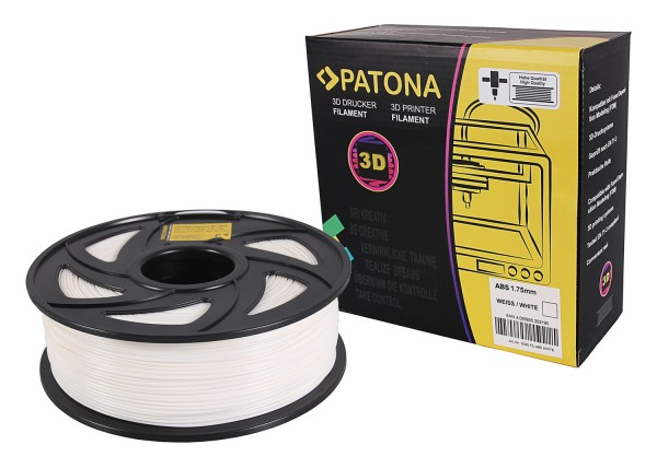 PATONA 1.75mm white ABS 3D printer Filament