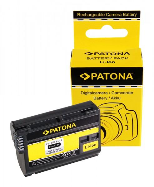 PATONA Akku f. Nikon EN-EL15 V1 D7000 D800 D800 100% DECODIERT