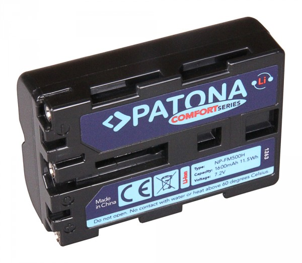 PATONA Comfort Akku f. Sony NP-FM500H Alpha DSLR-A100 DSLR-A100H 57 65
