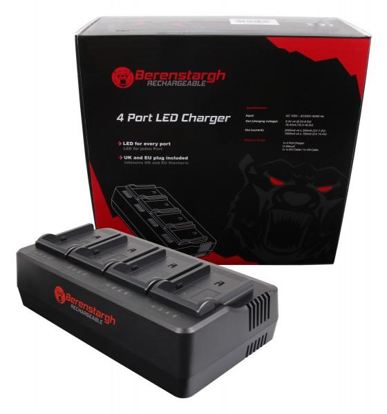 Berenstargh 4-fасh Lаdеgеrät für NP-FM50 QM51 QM71 QM91 F550 F750 F960 F970 FM500 FM500H