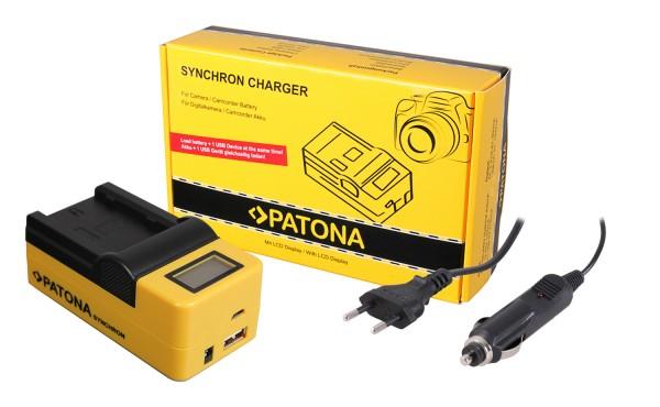 PATONA Synchron USB Charger f. Fuji NP-W235 Fujifilm XT-4 XT4 XT-4 with LCD