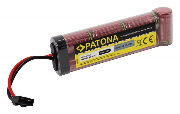 PATONA RC Akku 8,4V 4200mAh Traxxas Ni-MH für RC Fahrzeuge mit Traxxas-Anschluss