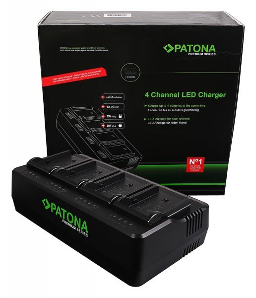 PATONA Premium 4-fold Charger for NP-FM50 QM51 QM71 QM91 F550 F750 F960 F970 FM500 FM500H