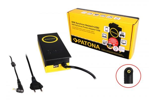 PATONA 90W Synchron Netzteil 4x1.7x12mm 19,5V inkl. USB Ausgang 2,1A f. HP Mini 1100CM-KS167UT 1100-