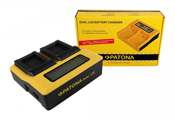 PATONA Dual LCD USB Ladegerät f. Sony NP-BX1 BX BX1 NP-BX1 Cybershot DSC HX300 DSC HX50V DSC RX1