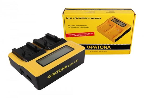 PATONA Dual LCD USB Ladegerät f. Kodak Klic-8000 DB-50 Easyshare Z1012 IS Z1085 IS Z1485 IS Z612