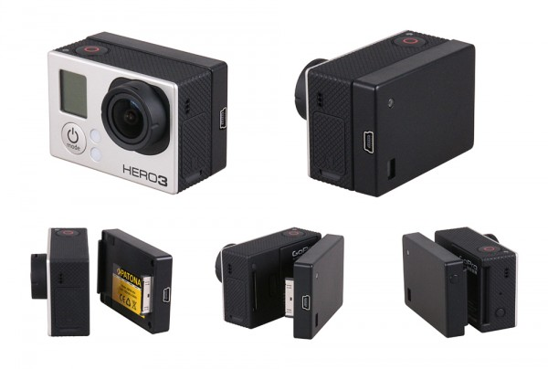 PATONA BacPac f. GoPro Hero 3 3+ 4 cameras with additional 1300mAh