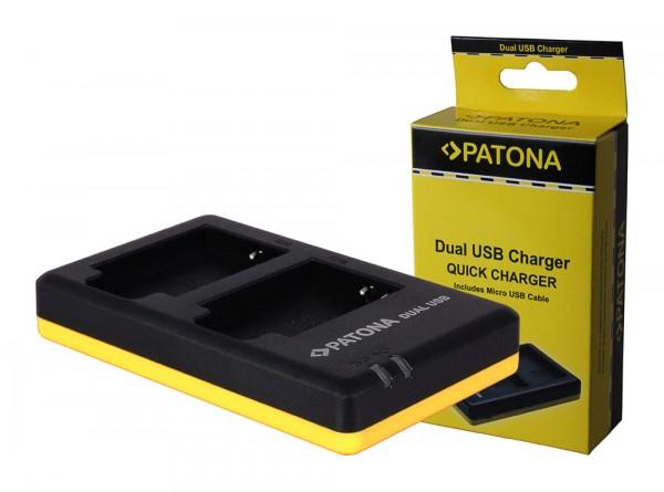 PATONA Dual Quick-Charger f.Nikon EN-EL12, ENEL12 incl. Micro-USB cabel