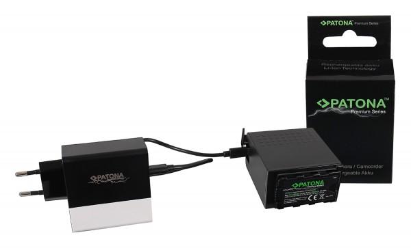 PATONA Premium Akku f. Panasonic AG-VBR89G mit USB-Port USB-C / USB sowie zusätzlichem PD-Ladegerät