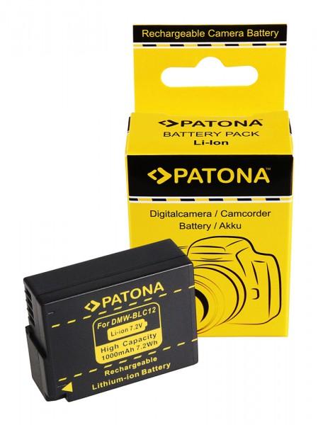 PATONA Akku f. Panasonic DMW-BLC12 E Lumix DM FZ200 BLC12 BLC12PP