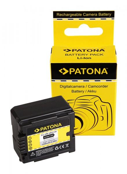 PATONA Batterie pour Panasonic VW-VBG130 HDC HDCDX1 HDC-DX1 HDCDX1EGS HDC-DX1EG-S