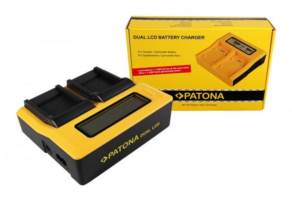 PATONA Dual LCD USB Chargeur pour Samsung Samsung SLB-0937 Digimax CL5 L730 L830 NV33 NV4 PL10