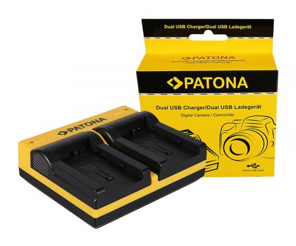 PATONA Dual Ladegerät f. Canon BP-808 FSxx FS10 FS-10 FS100 FS-100 FS11 FS-11 BP-808 HF inkl. Micro-
